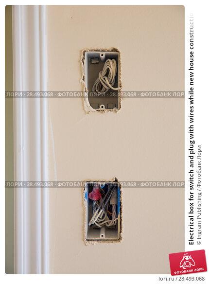 Купить «Electrical box for switch and plug with wires while new house construction», фото № 28493068, снято 19 апреля 2019 г. (c) Ingram Publishing / Фотобанк Лори