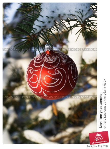 Елочное украшение, фото № 114768, снято 11 ноября 2007 г. (c) Петр Кириллов / Фотобанк Лори