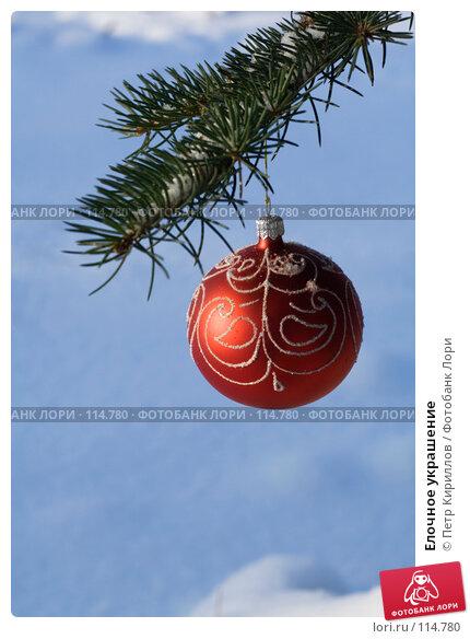 Елочное украшение, фото № 114780, снято 11 ноября 2007 г. (c) Петр Кириллов / Фотобанк Лори