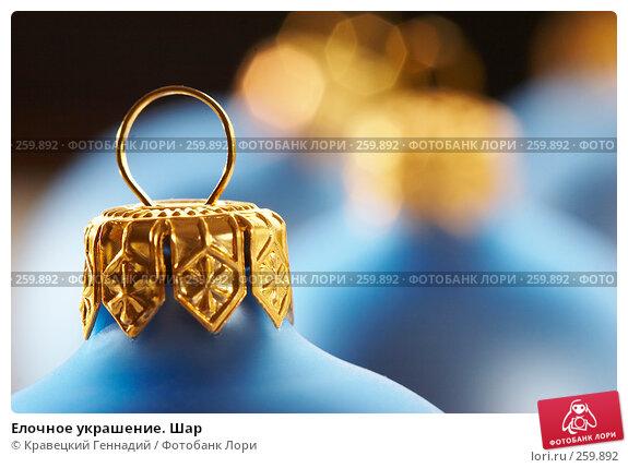 Елочное украшение. Шар, фото № 259892, снято 13 декабря 2005 г. (c) Кравецкий Геннадий / Фотобанк Лори