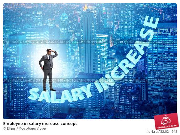 Купить «Employee in salary increase concept», фото № 32024948, снято 29 мая 2020 г. (c) Elnur / Фотобанк Лори