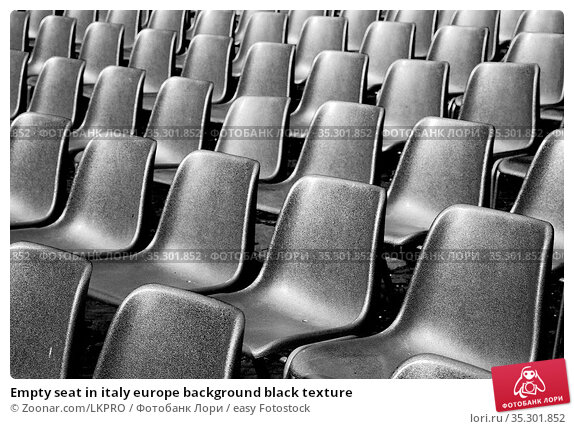 Empty seat in italy europe background black texture. Стоковое фото, фотограф Zoonar.com/LKPRO / easy Fotostock / Фотобанк Лори