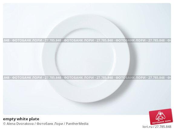 Купить «empty white plate», фото № 27785848, снято 19 октября 2018 г. (c) PantherMedia / Фотобанк Лори