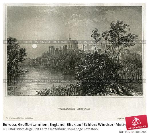 Europa, Großbritannien, England, Blick auf Schloss Windsor, Motiv... Редакционное фото, фотограф Historisches Auge Ralf Feltz / age Fotostock / Фотобанк Лори