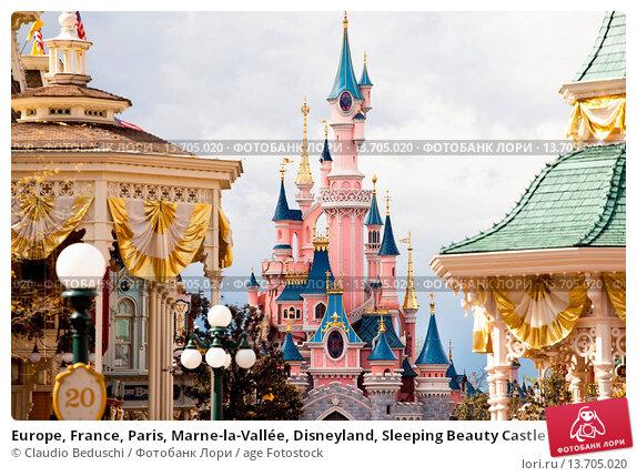 Купить «Europe, France, Paris, Marne-la-Vallée, Disneyland, Sleeping Beauty Castle », фото № 13705020, снято 22 мая 2019 г. (c) age Fotostock / Фотобанк Лори