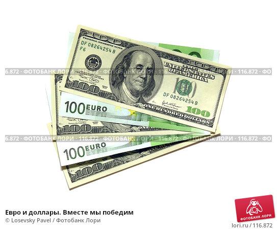 Евро и доллары. Вместе мы победим, фото № 116872, снято 5 февраля 2006 г. (c) Losevsky Pavel / Фотобанк Лори