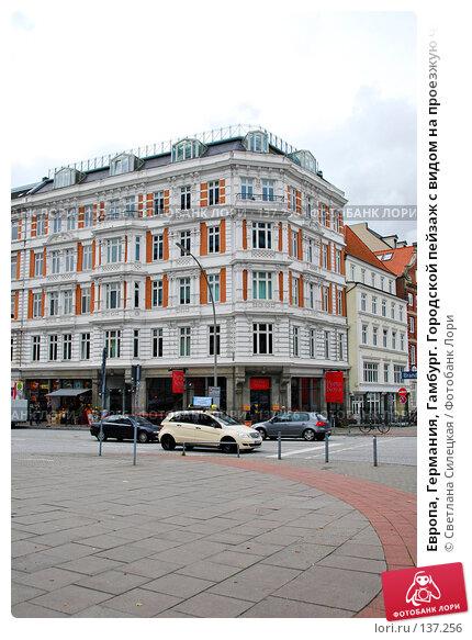 Купить «Европа, Германия, Гамбург. Городской пейзаж с видом на проезжую часть,автомобили и здания», фото № 137256, снято 2 октября 2007 г. (c) Светлана Силецкая / Фотобанк Лори
