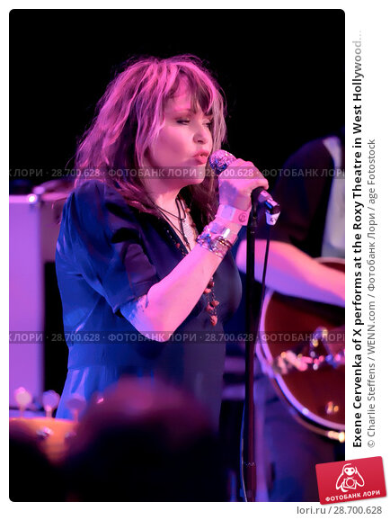 Купить «Exene Cervenka of X performs at the Roxy Theatre in West Hollywood, California. Featuring: Exene Cervenka Where: Los Angeles, California, United States...», фото № 28700628, снято 4 декабря 2015 г. (c) age Fotostock / Фотобанк Лори