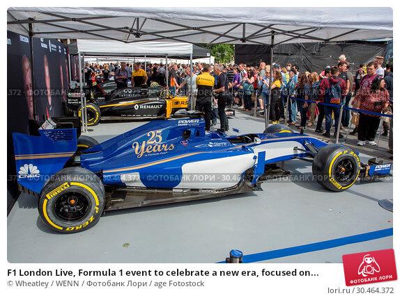 F1 London Live, Formula 1 event to celebrate a new era, focused on... (2017 год). Редакционное фото, фотограф Wheatley / WENN / age Fotostock / Фотобанк Лори