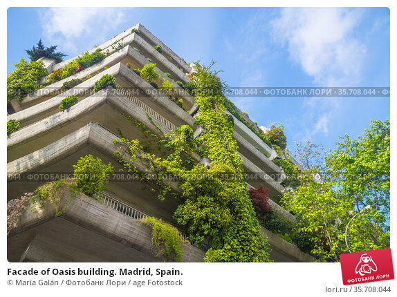 Facade of Oasis building. Madrid, Spain. Стоковое фото, фотограф María Galán / age Fotostock / Фотобанк Лори