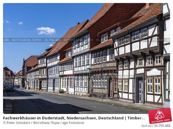 Fachwerkhäuser in Duderstadt, Niedersachsen, Deutschland | Timber... Стоковое фото, фотограф Peter Schickert / age Fotostock / Фотобанк Лори