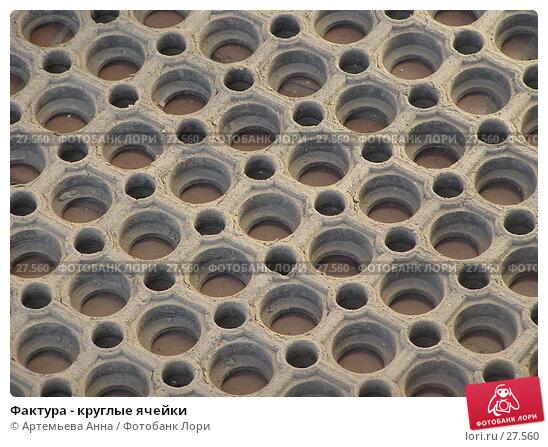 Фактура - круглые ячейки, фото № 27560, снято 24 февраля 2017 г. (c) Артемьева Анна / Фотобанк Лори