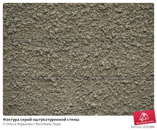 Фактура серой оштукатуренной стены, фото № 219980, снято 27 мая 2007 г. (c) Ольга Хорькова / Фотобанк Лори