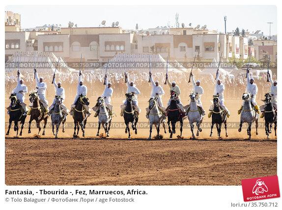 Fantasia, - Tbourida -, Fez, Marruecos, Africa. (2019 год). Редакционное фото, фотограф Tolo Balaguer / age Fotostock / Фотобанк Лори