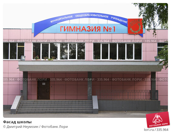 Фасад школы, эксклюзивное фото № 335964, снято 19 июня 2008 г. (c) Дмитрий Неумоин / Фотобанк Лори