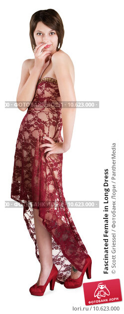 Fascinated Female in Long Dress. Стоковое фото, фотограф Scott Griessel / PantherMedia / Фотобанк Лори