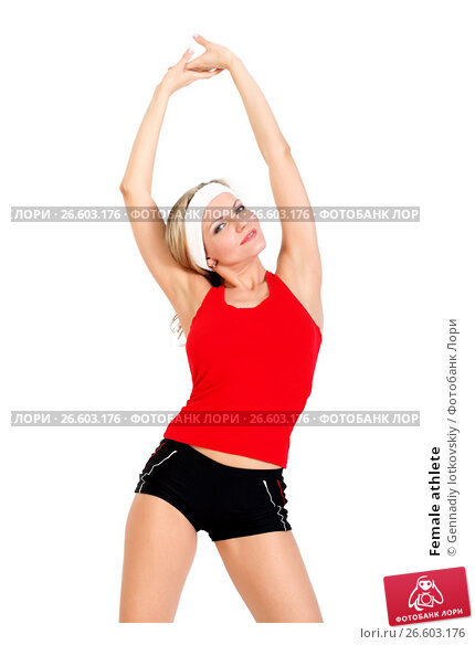 Купить «Female athlete», фото № 26603176, снято 4 апреля 2012 г. (c) Gennadiy Iotkovskiy / Фотобанк Лори