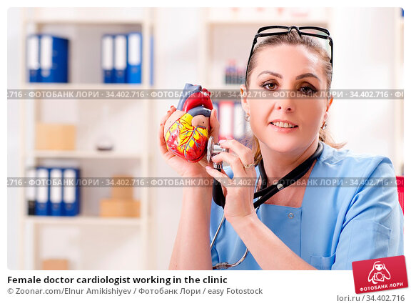 Female doctor cardiologist working in the clinic. Стоковое фото, фотограф Zoonar.com/Elnur Amikishiyev / easy Fotostock / Фотобанк Лори