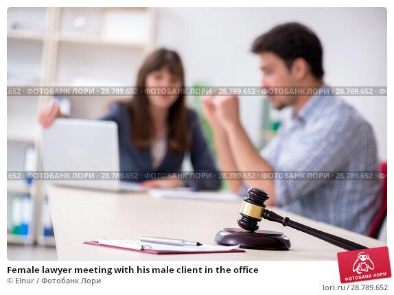Купить «Female lawyer meeting with his male client in the office», фото № 28789652, снято 25 апреля 2018 г. (c) Elnur / Фотобанк Лори