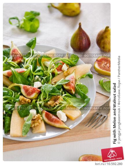 Купить «Fig with Melon and Walnut salad», фото № 10592280, снято 19 апреля 2019 г. (c) PantherMedia / Фотобанк Лори