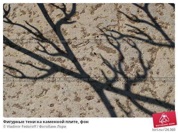 Фигурные тени на каменной плите, фон, фото № 24360, снято 24 сентября 2006 г. (c) Vladimir Fedoroff / Фотобанк Лори