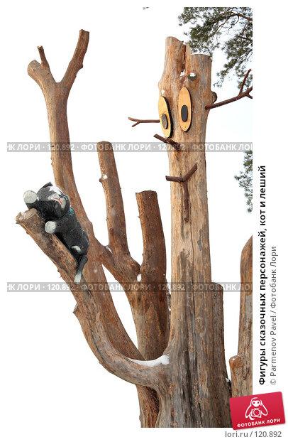 Фигуры сказочных персонажей, кот и леший, фото № 120892, снято 18 ноября 2007 г. (c) Parmenov Pavel / Фотобанк Лори