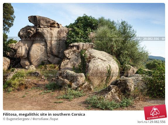 Купить «Filitosa, megalithic site in southern Corsica», фото № 29082556, снято 20 августа 2018 г. (c) EugeneSergeev / Фотобанк Лори