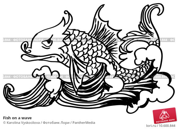 Fish on a wave. Стоковое фото, фотограф Karolina Vyskocilova / PantherMedia / Фотобанк Лори