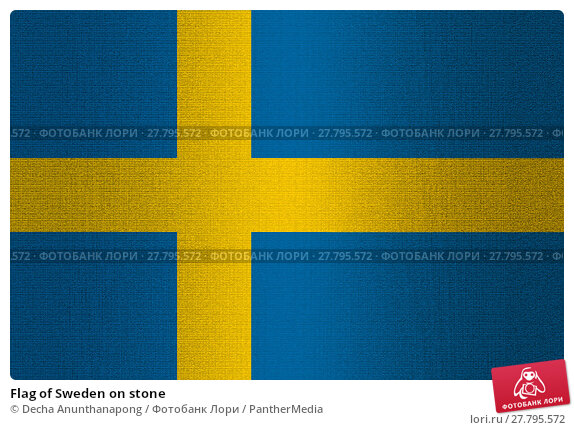 Купить «Flag of Sweden on stone», фото № 27795572, снято 18 октября 2018 г. (c) PantherMedia / Фотобанк Лори