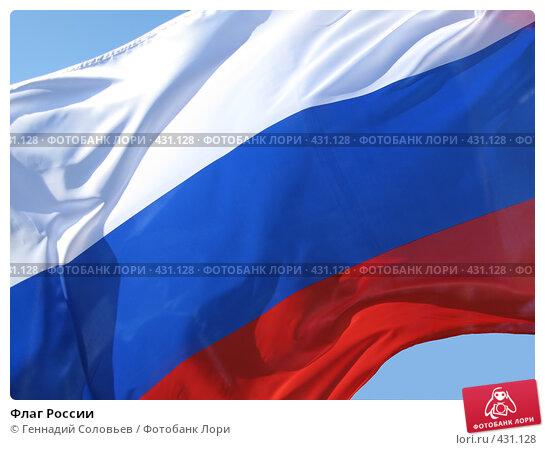 Флаг России. Стоковое фото, фотограф Геннадий Соловьев / Фотобанк Лори