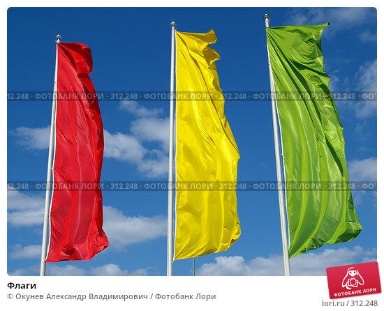 Флаги, фото № 312248, снято 5 июня 2008 г. (c) Окунев Александр Владимирович / Фотобанк Лори