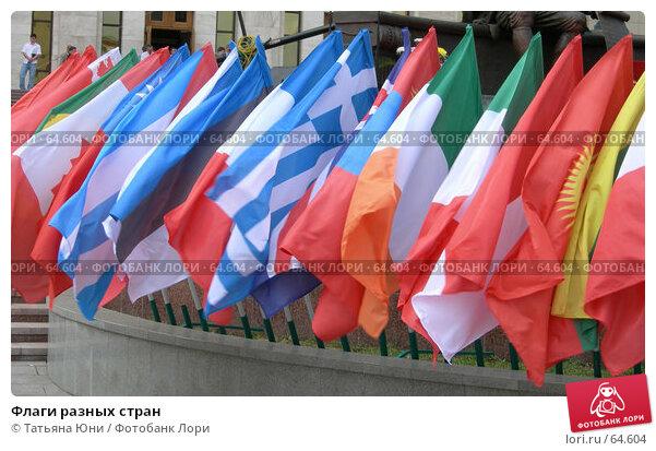 Купить «Флаги разных стран», фото № 64604, снято 16 июля 2007 г. (c) Татьяна Юни / Фотобанк Лори