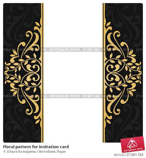 Купить «Floral pattern for invitation card», иллюстрация № 27061164 (c) Ольга Козырина / Фотобанк Лори