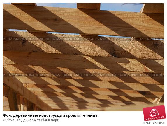 Купить «Фон: деревянные конструкции кровли теплицы», фото № 32656, снято 14 марта 2007 г. (c) Крупнов Денис / Фотобанк Лори