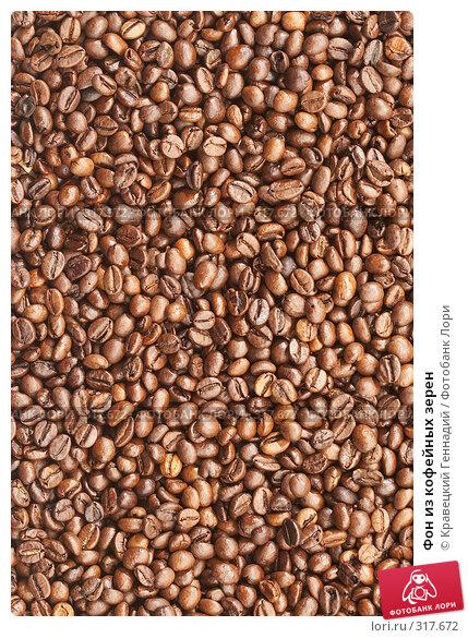 Купить «Фон из кофейных зерен», фото № 317672, снято 1 ноября 2005 г. (c) Кравецкий Геннадий / Фотобанк Лори