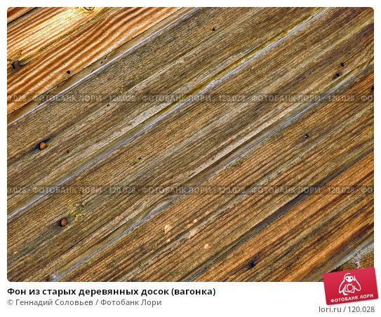 Фон из старых деревянных досок (вагонка), фото № 120028, снято 4 октября 2007 г. (c) Геннадий Соловьев / Фотобанк Лори