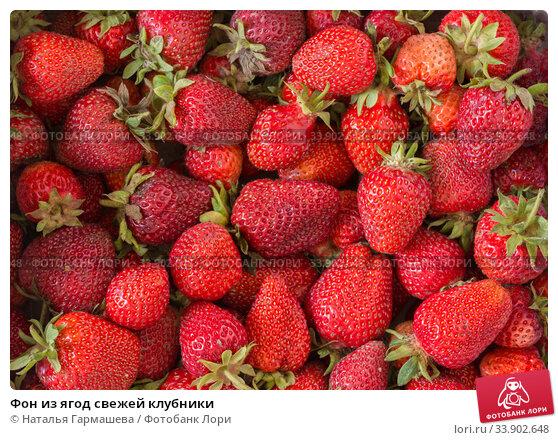Купить «Фон из ягод свежей клубники», фото № 33902648, снято 30 мая 2020 г. (c) Наталья Гармашева / Фотобанк Лори