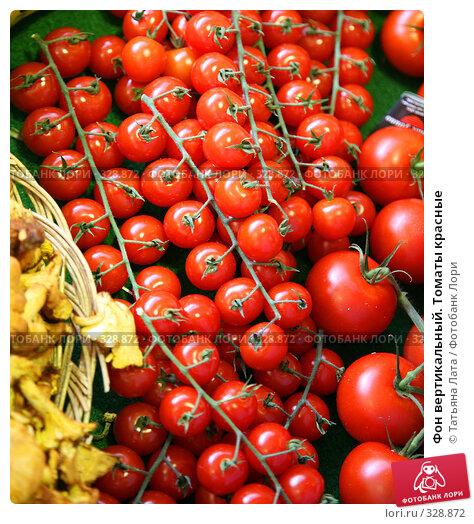 Фон вертикальный. Томаты красные, фото № 328872, снято 21 июля 2007 г. (c) Татьяна Лата / Фотобанк Лори