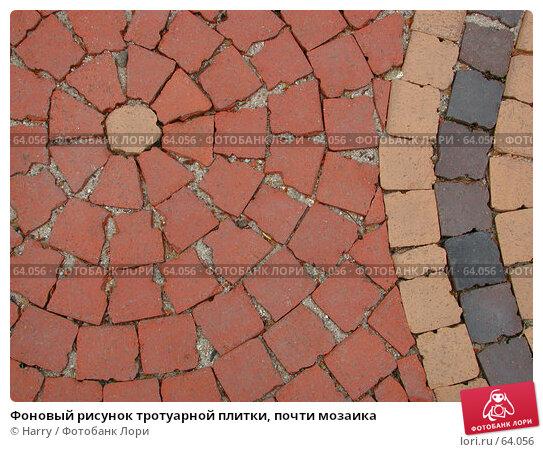 Фоновый рисунок тротуарной плитки, почти мозаика, фото № 64056, снято 30 апреля 2004 г. (c) Harry / Фотобанк Лори