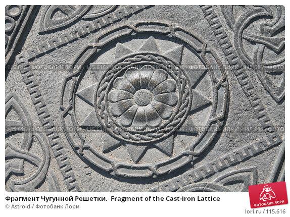 Фрагмент Чугунной Решетки.  Fragment of the Cast-iron Lattice, фото № 115616, снято 2 июня 2007 г. (c) Astroid / Фотобанк Лори