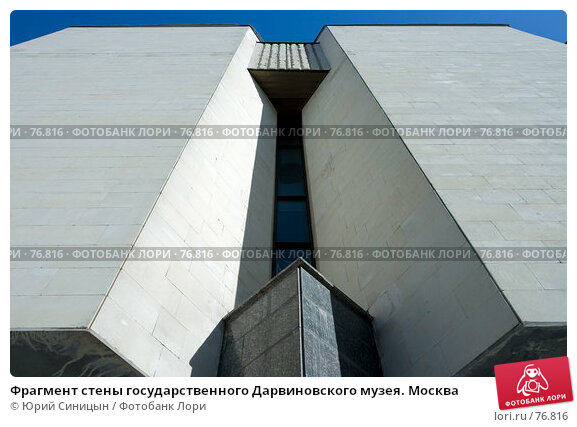 Фрагмент стены государственного Дарвиновского музея. Москва, фото № 76816, снято 10 августа 2007 г. (c) Юрий Синицын / Фотобанк Лори