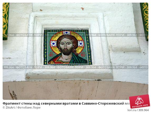 Фрагмент стены над северными вратами в Саввино-Сторожевский монастырь в Звенигороде, фото № 309964, снято 1 июня 2008 г. (c) ZitsArt / Фотобанк Лори