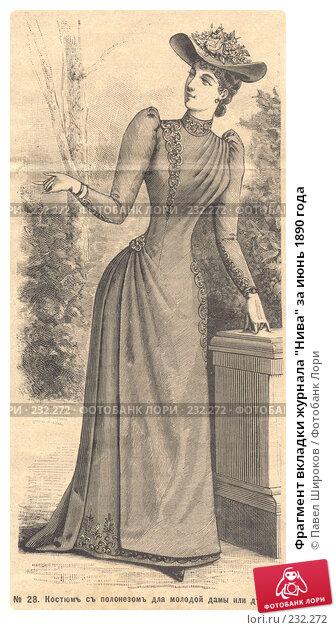 "Фрагмент вкладки журнала ""Нива"" за июнь 1890 года, фото № 232272, снято 18 января 2017 г. (c) Павел Широков / Фотобанк Лори"