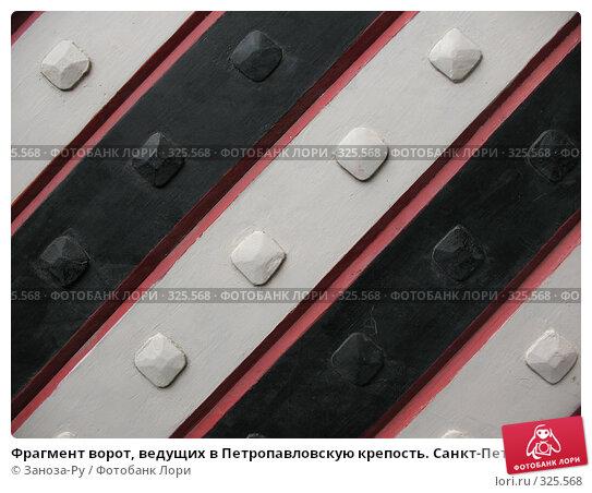 Фрагмент ворот, ведущих в Петропавловскую крепость. Санкт-Петербург., фото № 325568, снято 12 июня 2008 г. (c) Заноза-Ру / Фотобанк Лори