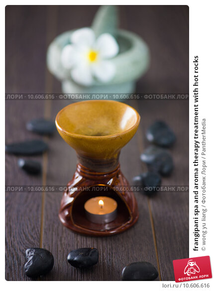 frangipani spa and aroma therapy treatment with hot rocks. Стоковое фото, фотограф wong yu liang / PantherMedia / Фотобанк Лори