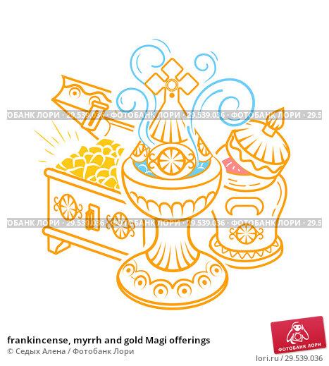 Купить «frankincense, myrrh and gold Magi offerings», иллюстрация № 29539036 (c) Седых Алена / Фотобанк Лори