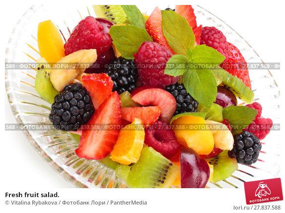 Купить «Fresh fruit salad.», фото № 27837588, снято 20 февраля 2018 г. (c) PantherMedia / Фотобанк Лори