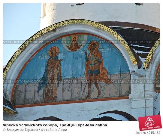 Фреска Успенского собора, Троице-Сергиева лавра, фото № 215132, снято 4 января 2008 г. (c) Владимир Тарасов / Фотобанк Лори