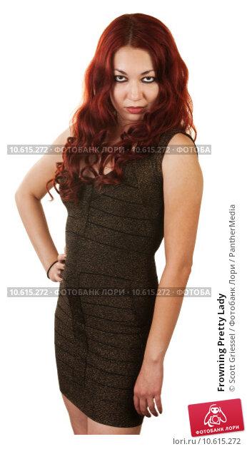 Frowning Pretty Lady. Стоковое фото, фотограф Scott Griessel / PantherMedia / Фотобанк Лори