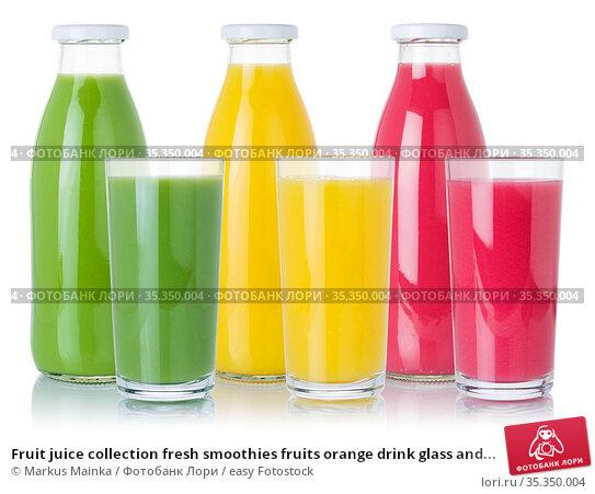 Fruit juice collection fresh smoothies fruits orange drink glass and... Стоковое фото, фотограф Markus Mainka / easy Fotostock / Фотобанк Лори